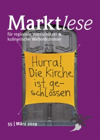 """Cover der Marktlese 03/2019 """"Hurra! die Kirche ist geschlossen"""""""