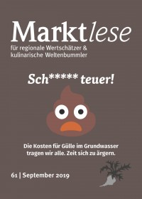 Cover der 61. Marktlese, September 2019