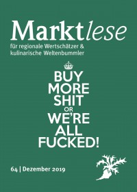 """Buy more shit or we're all fucked!"" 