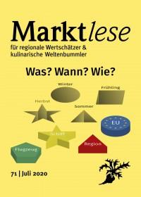 """Cover der Marktlese 07/2020: """"Was? Wann? Wie? – Konsum mit Blick auf die CO2-Bilanz"""""""