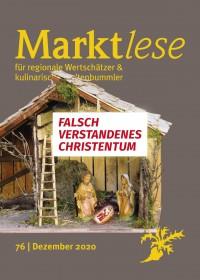 """Cover der Marktlese 12/2020 """"Falsch verstandenes Christentum"""""""