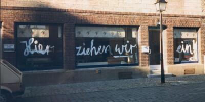 Bild vom alten Marktladen vor der Eröffnung in der Schmiedtorstrasse