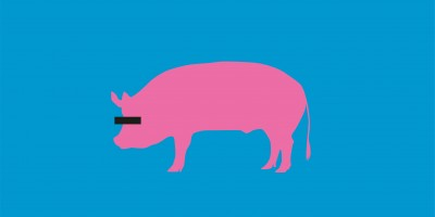 Die Silhouette eines Schweines mit einem Zensurbalken über den Augen
