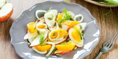 Fenchel-Salat mit Clementinen und Apfel