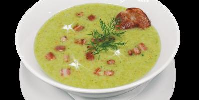 Brokkoli-Cremesuppe mit Hähnchen und Orange