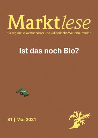 """Cover der Marktlese 05/2021 """"Was ist noch Bio?"""""""