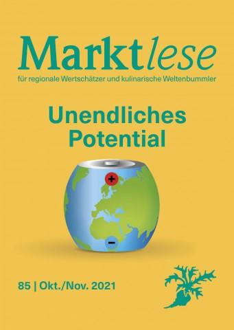 """Cover der Marktlese 10-11/2021 """"Unendliches Potential"""""""