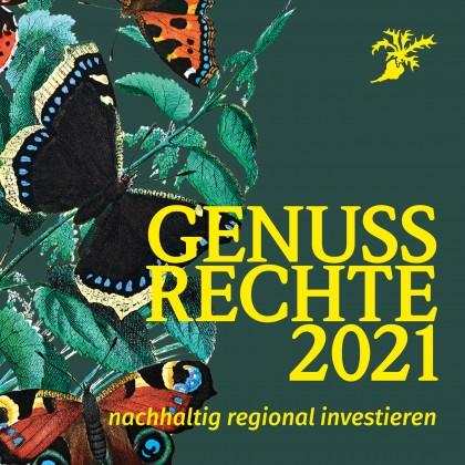 Cover der Genussrechte-Broschüre 2021