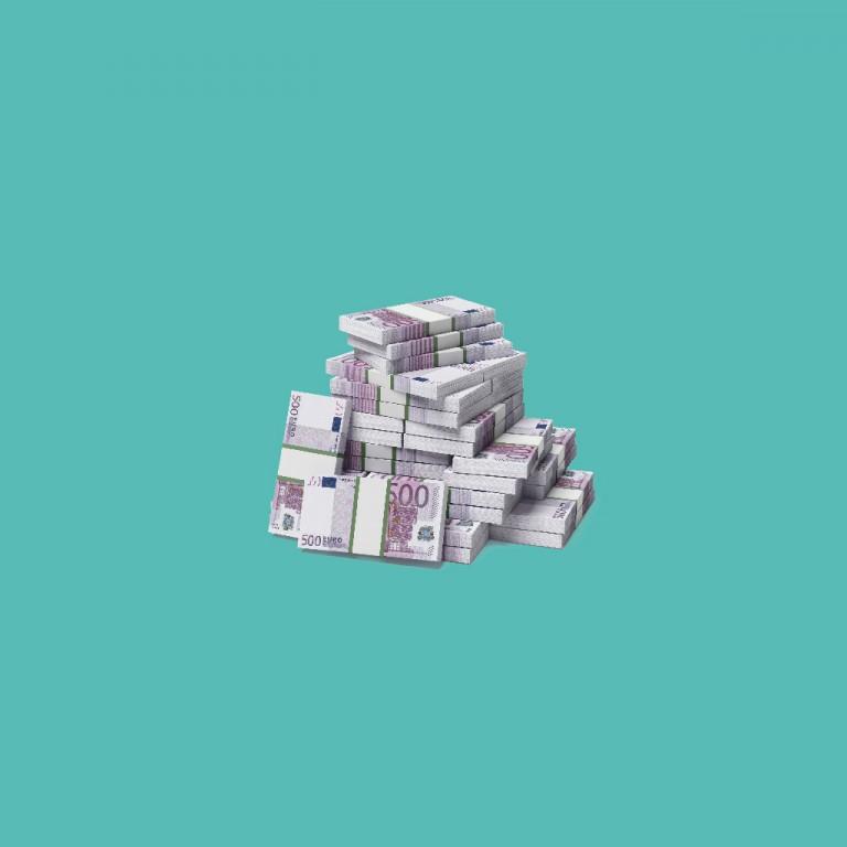 Ein Stapel 500€-Scheine