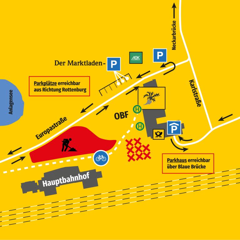Europaplatz: Neue Verkehrsführung von Juli bis September 2021